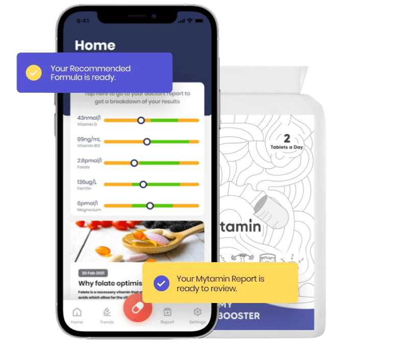Mytamin app and personalised supplements